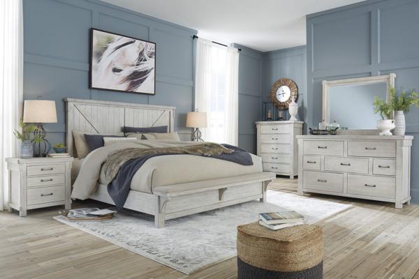 Picture of Brashland 6-Piece King Upholstered Bedroom Set