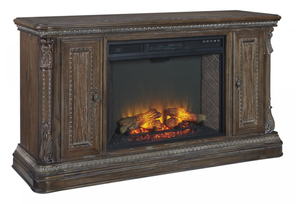 Picture of Charmond Large TV Stand with Fireplace