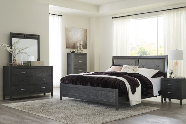 Picture of Delmar 6-Piece King Panel Bedroom Set