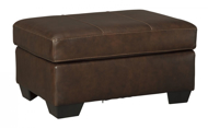 Picture of Morelos Leather Chocolate Ottoman