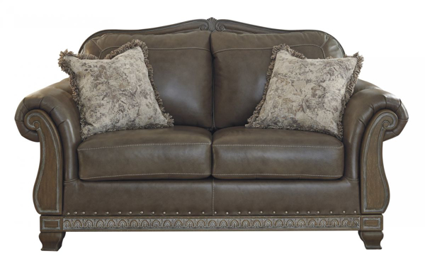 Picture of Malacara Quarry Leather Loveseat