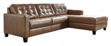Picture of Baskove Leather 2-Piece Right Arm Facing Sectional