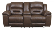 Picture of Stoneland Chocolate Reclining Loveseat