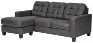 Picture of Venaldi Gunmetal Sofa Chaise Queen Sleeper