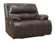 Picture of Ricmen Walnut Leather Wide Seat Power Recliner