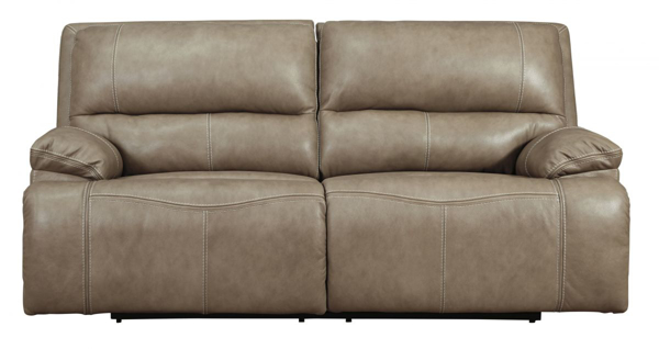 Picture of Ricmen Putty Leather Power Reclining Sofa With Adjustable Headrest