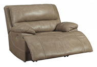 Picture of Ricmen Putty Leather Wide Seat Power Recliner