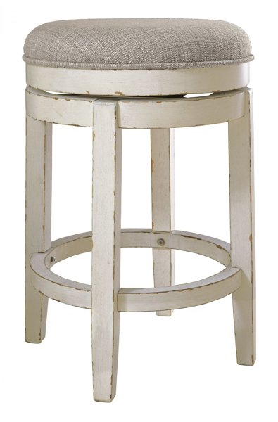 """Picture of Realyn 24"""" Upholstered Swivel Barstool"""