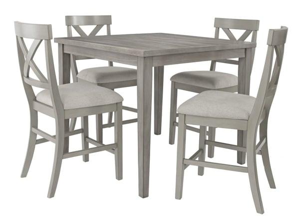 Parellen 5 Piece Counter Height Dining Set Furniture Deals Online