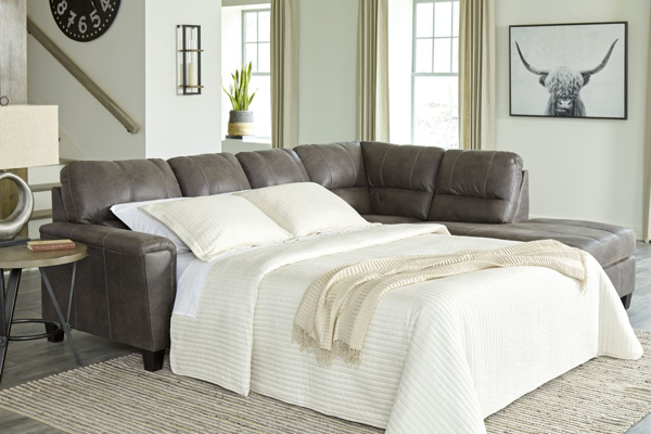 Picture of Navi Smoke 2-Piece Right Arm Facing Sleeper Sectional