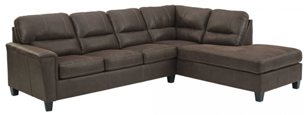 Picture of Navi Chestnut 2-Piece Right Arm Facing Sectional