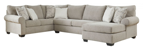 Picture of Baranello Stone 3-Piece Right Arm Facing Sectional