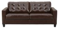 Picture of Altonbury Walnut Leather Queen Sofa Sleeper