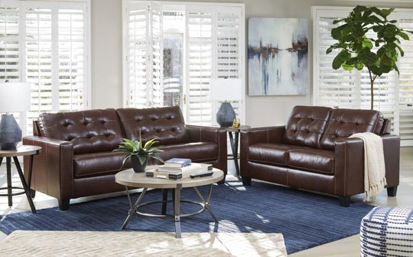 Picture of Altonbury Walnut 2-Piece Leather Living Room Set