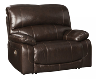 Picture of Hallstrung Chocolate Leather Power Recliner