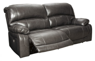 Picture of Hallstrung Gray Leather Power Reclining Sofa