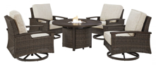 Picture of Paradise Trail 5-Piece Outdoor Firepit Set