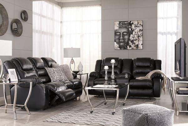 Picture of Vacherie Black 2-Piece Living Room Set