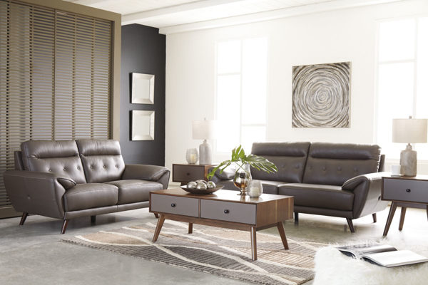 Picture of Sissoko Leather 2-Piece Living Room Set