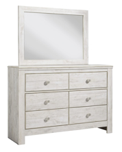 Picture of Paxberry White Dresser & Mirror