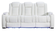 Picture of Party Time Power Sofa With Adjustable Headrest-White