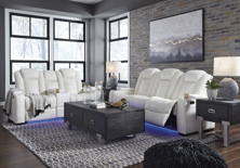 Picture of Party Time 2-Piece Power Reclining Living Room Set-White