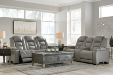 Picture of The Man-Den Gray  2-Piece Power Living Room Set