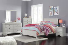 Picture of Jorstad 6-Piece Full Sleigh Bedroom Set