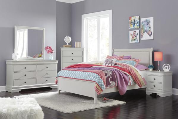 Picture of Jorstad 6-Piece Full Sleigh Bedroom Set