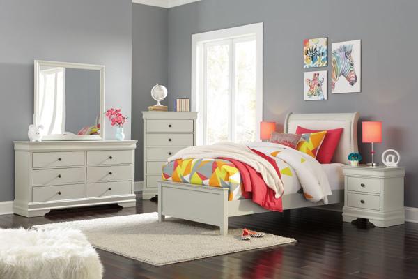 Picture of Jorstad 6-Piece Twin Sleigh Bedroom Set