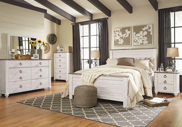 Picture of Willowton 6 Piece Panel Bedroom Set