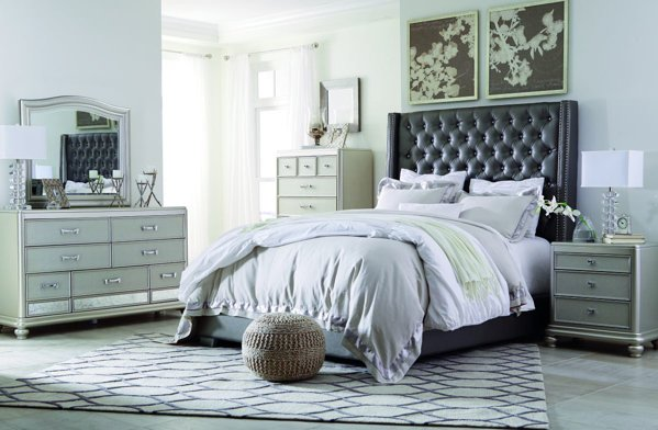 Picture of Coralayne 6 Piece Upholstered Bedroom Set
