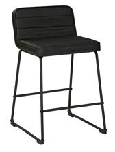 "Picture of Nerison Black 24"" Upholstered Barstool"