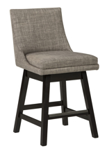 "Picture of Tallenger Light Gray 24"" Uph Swivel Barstool"