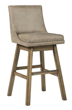 "Picture of Tallenger Beige 30"" Uph Swivel Barstool"