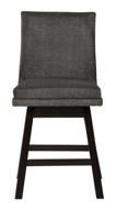 "Picture of Tallenger Dark Gray 24"" Uph Swivel Barstool"