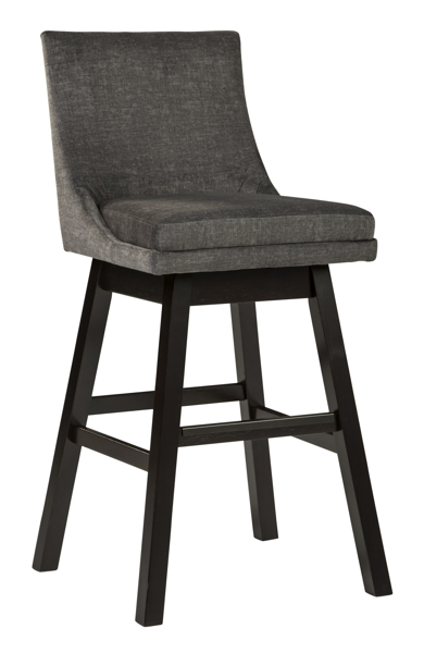 "Picture of Tallenger Dark Gray 30"" Uph Swivel Barstool"