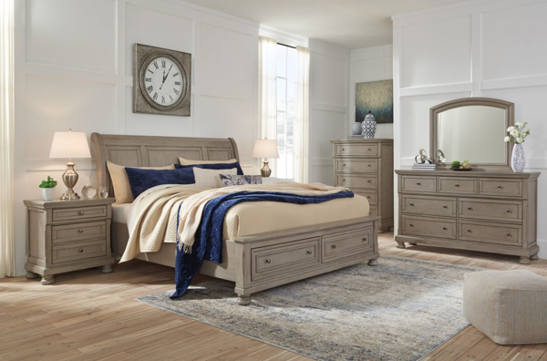 Picture of Lettner 6-Piece Sleigh Bedroom Set