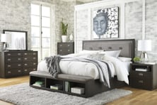 Picture of Hyndell 6 Piece Upholstered Bedroom Set