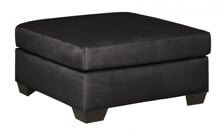 Picture of Darcy Black Oversized Accent Ottoman