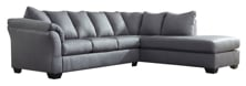 Picture of Darcy Steel 2-Piece Right Arm Facing Sectional