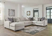 Picture of Dellara Chalk 5-Piece Left Arm Facing Sectional