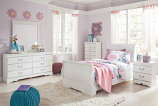 Picture of Anarasia 6-Piece Youth Sleigh Bedroom Set