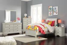 Picture of Jorstad 6-Piece Youth Sleigh Bedroom Set
