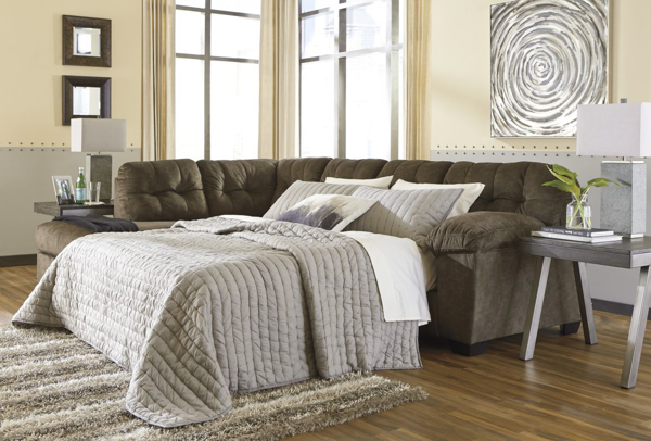 Picture of Accrington Earth Left Arm Facing Sleeper Sectional