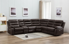 Picture of Conrad Chocolate Reclining Sectional