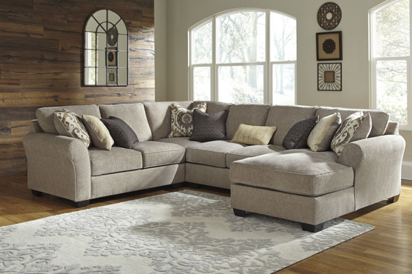 Picture of Pantomine 4-Piece Driftwood Right Arm Facing Sectional