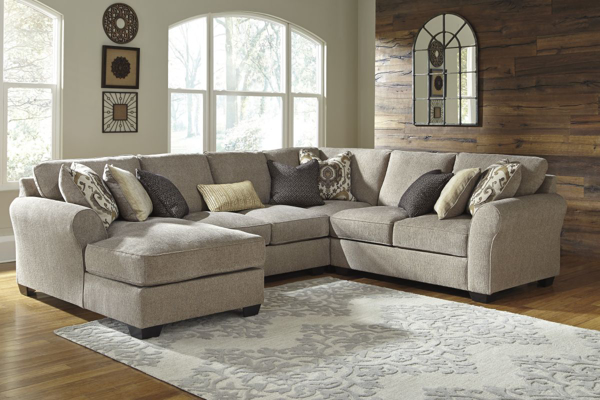 Picture of Pantomine 4-Piece Driftwood Left Arm Facing Sectional