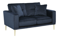 Picture of Macleary Navy Loveseat