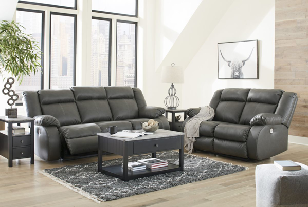 Picture of Denoron Gray 2-Piece Power Living Room Set